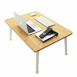Floor Table for Eating Small Picnic Low Table for Laptop Bamboo Color high Legs $50.41