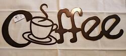 Metal Cut Out Letter COFFEE CUP SIGN Kitchen Coffee Shop Wall Hanging 20 inches $14.95