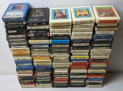 Lot of 20 Random 8 Track Tapes Different Collection Rock Country Pop 60s 70s 80s $19.99