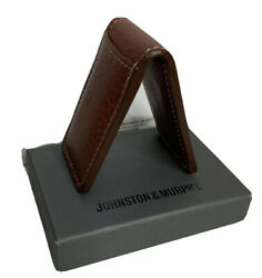 Mens Money Clip Brown Leather Magnetic Guy Gift Graduation Johnston amp; Murphy $34.95