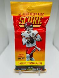 2021 Panini Score NFL Football 40 Card Value Cello Fat Pack Brand New Sealed $15.95