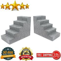 Pet Steps Stairs Foam Dogs Cats Mattress Grade Cushion High Couch Bed 5 Steps $80.54