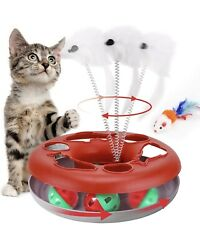 Cat Toys Interactive Cat Toys for Indoor Cats Kitten Toys Tracks with Catnip $11.99