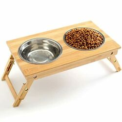 Raised Pet Bowls for Dogs and Cats Adjustable Elevated Dog Bowls for Small $38.52