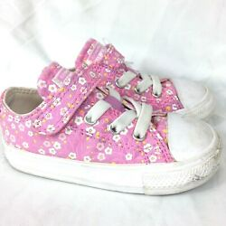 Converse All Star Toddler Little Kids Shoes Size 6 Pink Flowers $34.99