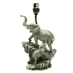 Resin Table Lamps Elephants On Expedition Sculptural Table Lamp quot;No Lampshadequot; $44.95