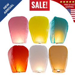 6 Pack Flying Chinese Paper Lanterns100% Biodegradable Eco Friendly Wishing S... $17.80