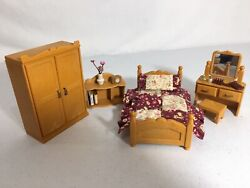 Calico critters sylvanian families Vintage Bedroom Furniture With Vanity $28.00
