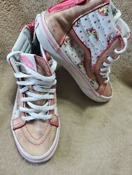Vans Off The Wall Girls Pink Glitter Unicorn Hightop Shoes size 1 $15.00