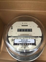 NEW SCHLUMBERGER SANGAMO ELECTRIC WATTHOUR SMART METER KWH CYCLONE 240V 200A $65.00