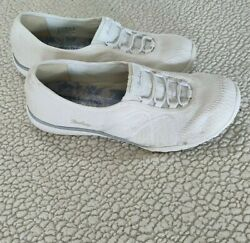 skechers air cooled memory foam womens wide fit white size 8.5 $17.90