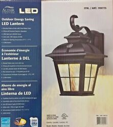 Altair Energy Saving LED Lantern Brushed Patina Finish Clear Water Glass $99.99
