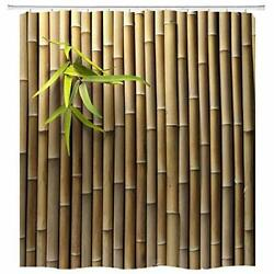 Bamboo 3D Printed Zen Spring Nature Fabric Shower Curtain Sets Bathroom Decor $31.63