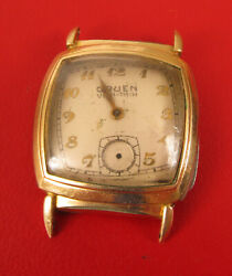 VINTAGE GOLD FILLED GRUEN VERITHIN WRIST WATCH MENS FOR PARTS OR REPAIR $49.50