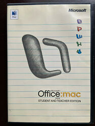 Microsoft Office Mac Student And Teacher Edition 2004 Word Powerpoint Excel $9.97