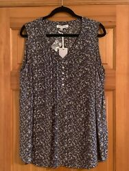 NWT ROSE amp; OLIVE Multicolor Floral Pintuck Sleeveless Blouse Top Womens Size 1x $32.99