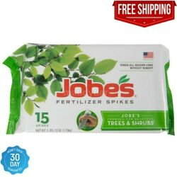 Jobe#x27;s Fertilizer Spikes for Trees Shrubs Time Release Nourish at Roots15 Count $13.79