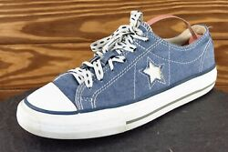 Converse One Star Women Size 7 M Blue Low Top Fabric 523237FT $22.48