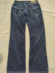 Big Star Mens Jeans Eastman Relaxed Straight Size 32L medium wash Measures 32X34 $25.04