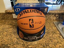 Official Spalding 2006 Cross Traxxion NBA Game Ball Leather Basketball NEW $399.00