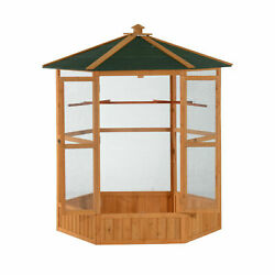 65 Inch Large Outdoor Aviary Bird Cage House for Parakeet Parrot Macaw Perch $393.56