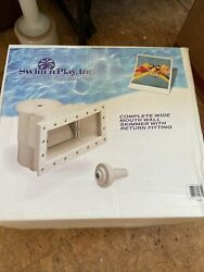 Complete Wide Mouth Thru Wall Above Ground Swimming Pool Skimmer $45.00