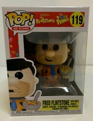 Funko Pop Ad Icons: Fruity Pebbles Fred with Cereal MINT IN STOCK w Protector $13.99