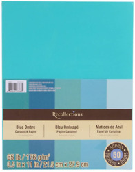 Recollections Cardstock Paper Blue Ombre 8 1 2 x 11 $13.30