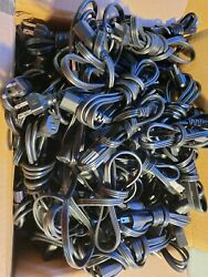 Lot of 50 3 Prong mixed 6FT amp; 3FT PC Printer PC MONITOR POWER CABLES $29.00
