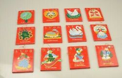 Avon COMPLETE SET of Vintage 12 Days of Christmas Ornaments $60.00