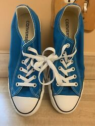 Converse all Star Women Size 9 M Bright Blue Low Top Fabric NWOB $35.00