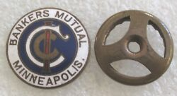 Antique Bankers#x27; Mutual Casualty Company Minneapolis Lapel Pin $15.99