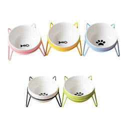 Cat Elevated Bowls Pet Raised Container With Stand Small Pet Feeding Bowl $22.88