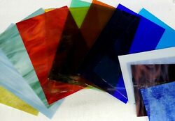 15 Piece Assorted Stained Glass Sheets 4quot; by 7quot; $32.00