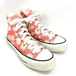 Converse Chuck Taylor All Star Womens 7 High Top Sneakers Camp Daisies Shoe $37.99