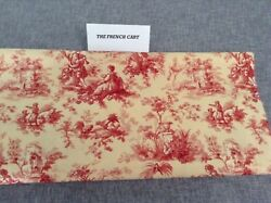Yellow and Red Toile Waverly Fabric 3 yds L. 46quot; W **REDUCED $21.00