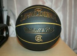 CLOT X MITCHELL amp; NESS SPALDING Basketball Size 7 Black Gold HYPEBEAST Collector $199.90