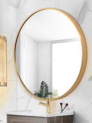 Gold Round Mirror Wall Mounted23.6in Large Circle Mirrors for WallBathroom for $104.82