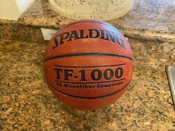 Original Spalding TF 1000 Game Ball Leather Basketball Men#x27;s 29.5 Used $99.95