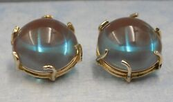 GORGEOUS LARGE VINTAGE and RARE VOGUE SAPHIRET EARRINGS $195.00