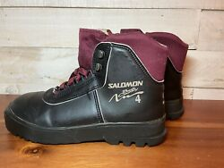 Salomon Backcountry 4 Cross Country Ski Boots Size 41 EUR Black Maroon Lace Up $50.00