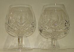 2 Vintage Waterford Lismore Brandy Snifters GOTHIC LOGO $75.00