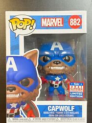 IN HAND FUNKO POP MARVEL CAPWOLF YEAR OF THE SHIELD FUNKON SUMMER EXCLUSIVE SDCC $39.94