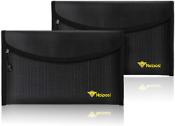 Noiposi Fireproof Money Bag 8quot;x5quot; Waterproof and Fireproof Envelope Small Safe $22.13