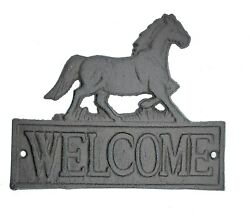 Horse Welcome Wall Plaque Sign Barn Farmhouse Shed Western Home Decor $18.00
