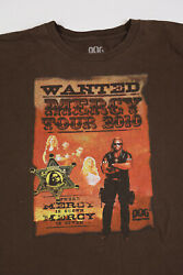 Men#x27;s 2XL Dog the Bounty Hunter Mercy Tour 2010 graphic T shirt brown front back $22.00