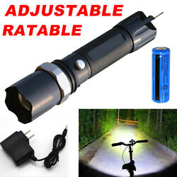 Tactical 900000lm LED Flashlight Super Bright Rechargeable TorchBatteryCharger $8.48