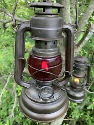 FEUERHAND 176 SPEC AUER 1175 Clear Red Glass Vintage Lantern from japan $462.00