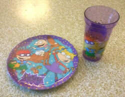 Rugrats Nickelodeon Kids 8quot; Plastic Plate and Cup Vintage Zak Designs 1997 $15.99