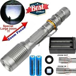 990000LM LED Flashlight Super Bright Tactical Camping Torch Lamp BatteryCharger $10.57